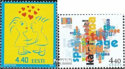 Estonia 392,396 (complete issue) unmounted mint / never hinged 2001 special stam