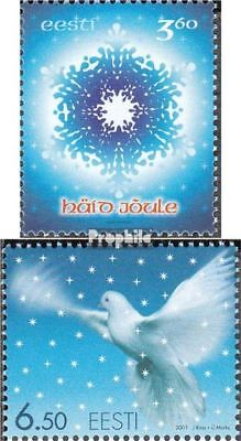 Estonia 423-424 (complete issue) unmounted mint / never hinged 2001 christmas