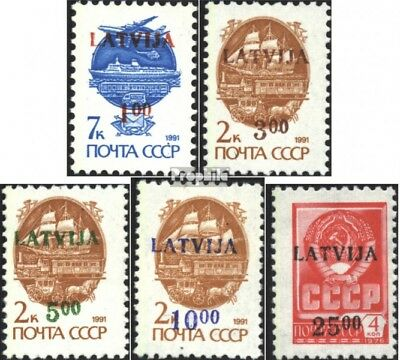 Latvia 335-339 (complete issue) unmounted mint / never hinged 1992 print edition