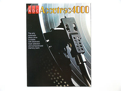 ADC  ACCUTRAC 4000  TURNTABLE   SALES BROCHURE   Original 1977   Remote Control