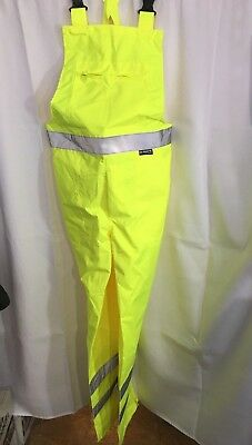 M-Safe By Majestic Yellow Reflector Overalls Safety 100% Polyester Class E L2