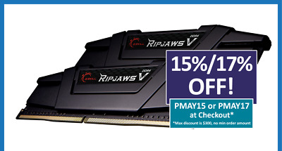 G.Skill Ripjaws V 32GB 2X16GB DDR4 3200MHz CL16 Gaming Desktop Memory RAM Kit