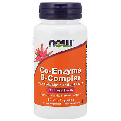 Vitamin B-Complex, Co-Enzyme, 60 Veg Capsules - NOW Foods
