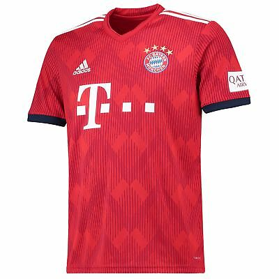 Official Bayern Munich Football Home Jersey Shirt 2018-19 adidas Tee Top Mens