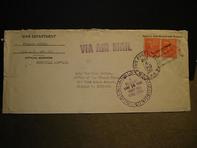 APO 263 LIMBURG, GERMANY 1945 ESSENTIAL Official WWII Army Cover Finance 13th AD