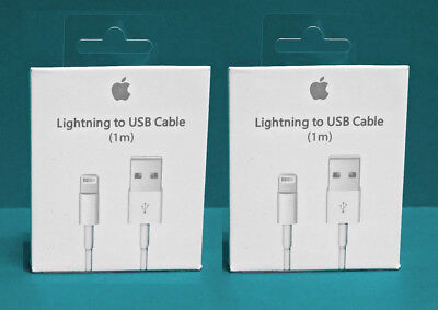2X Original Apple Lighting USB Charger Cable iPhone 5 6 7 8 SE PLUS