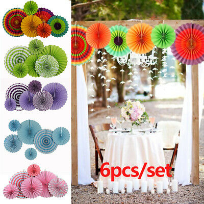 How to make hanging flowers out of tissue paper flowers healthy 6pc tissue paper cut out fans pinwheel hang flower diy craft wedding decor favor mightylinksfo