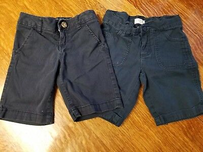 The Children's Place Old Navy Girls 6 Adjustable Waist Navy Uniform Shorts * Lot