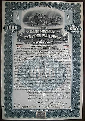 Michigan Central Railroad Co $1000 Debenture 1901