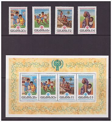 Ghana MNH 1980 Cultures, Ethnicities,Year of the Child mint  set stamps