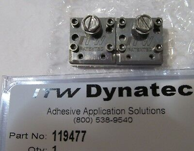 New Itw Dynatec  Industrial Ufd Line Hot Melt Glue Double Spray Nozzle 119477