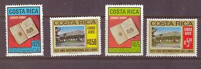 Costa Rica MNH 1972  International Book Year set mint  stamps