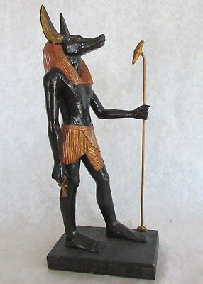 "Anubis Statue Black and Gold Resin 9"" Tall Ancient Egypt Spiritual / Collectible"