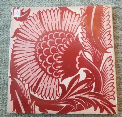 William De Morgan BBB Lustre Tile A