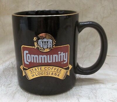 Community Coffee Mug Gold Trimmed Cup State Coffee Of Louisiana