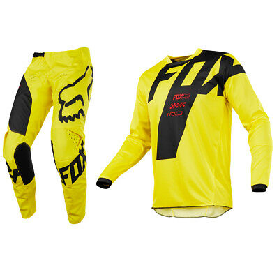Fox Racing 180 Motocross Mx Kit Pants Jersey - Mastar Yellow
