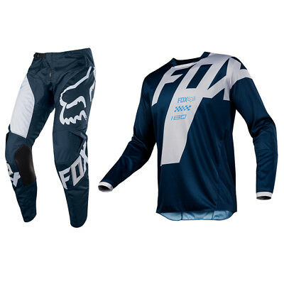 Fox Racing 180 Motocross Mx Kit Pants Jersey - Mastar Navy