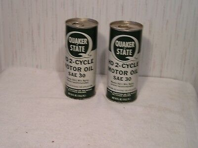 Vintage Quaker State HD 2 cycle motor oil can