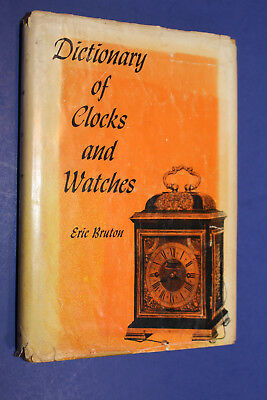 Dictionary Of Clocks and Waches By Eric Bruton Book Watchmaker Estate Vintage