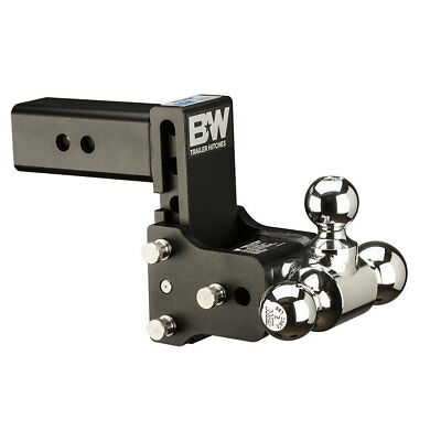 B&W TS20048B Tow and Stow 2.5 Inch Shank Tri Ball Hitch Mount with 5 Inch Drop