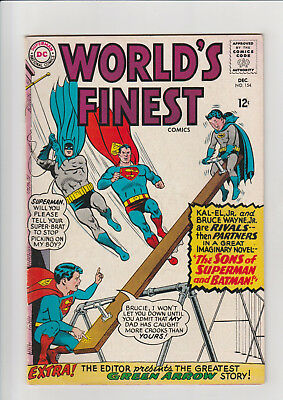 World's Finest Comics #154 (Feb 1965, DC) F Batman Green Arrow