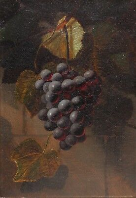 A.J.H. WAY-Attr.Original Oil Painting in Period Gilt Frame-Grape Vine Still Life