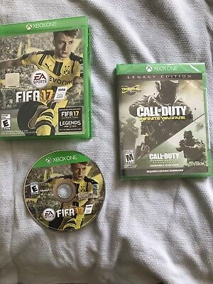 FIFA 17 (Microsoft Xbox One,) and Call of Duty Modern Warfare Remastered (New)