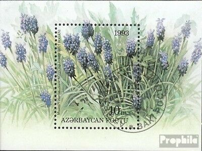 Aserbaidschan block2 (complete issue) used 1993 Locals Flora