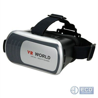 VR Brille 3D World Box Virtual Headset für Smartphone Android Iphone ISO Video