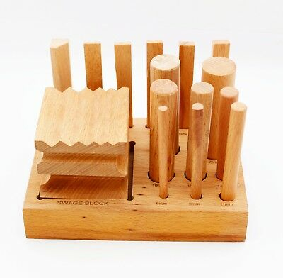 Set of Swage block wood dapping doming shaping punches forming-JewellrsTool