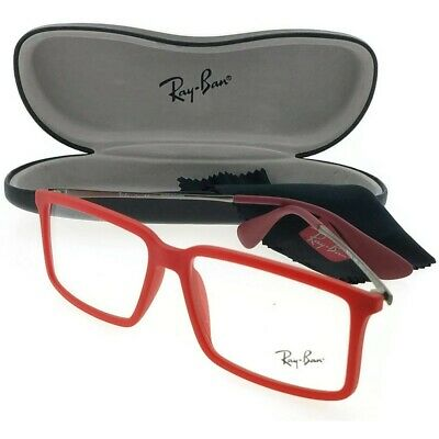 6f4c507b15a Ray Ban RX7043-5468 Youngster Men s Red Frame Clear Lens Genuine Eyeglasses  NWT