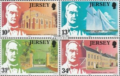 united kingdom-Jersey 368-371 (complete issue) used 1985 Davis
