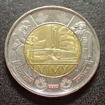 2017 Canadian Toonie 2 dollars Battle of Vimy Ridge Circ. Item #1025