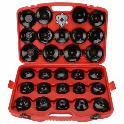 30pcs Oil Filter Wrench Tools Removal Heavy Duty Puller Set Tool Cap Cup Garage
