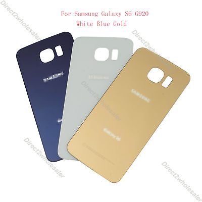 New Rear Battery Glass Cover Back Door Replacement For Samsung Galaxy S6 G920 US