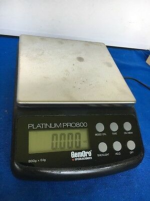 GemOro Platinum PRO800 Digital Counter Top Portable Gold Jewelry Balance Scale
