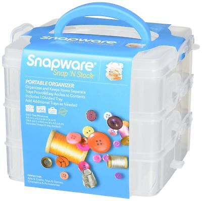 Snapware Snap U0027N Stack Square Layer Storage Container, 6 Inch By 6