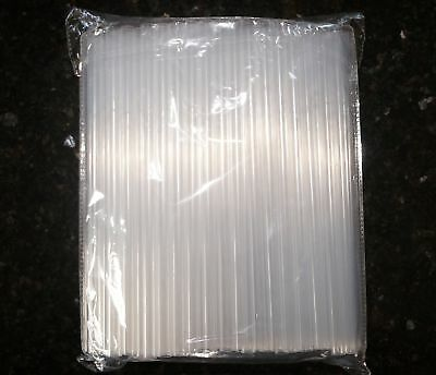 "100 3/8"" Wide Smoothie and Bubble Tea Fat Straws - Sparkling Clear (3/8"" ... New"