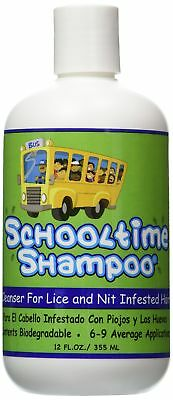 Schooltime Shampoo for Super Lice & Nit Elimination-- 12 OZ. Highly Effec... New
