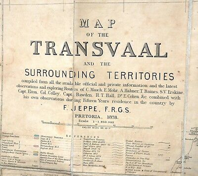 Map of the Transvaal by F .Jeppe 1878