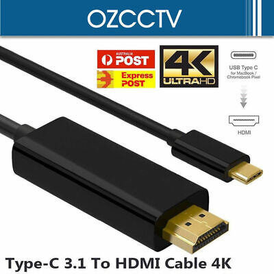 USB Type C to HDMI Cable USB 3.1 to HDMI 4K Cord For Samsung S8 S8+ S9 Note 8