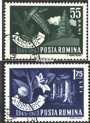 Romania 2212-2213 (complete issue) used 1963 afforestation