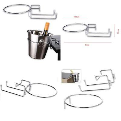 New Ice Wine Chrome Plated Table Desk Side Champagne Wine Ice Bucket Holder Sta