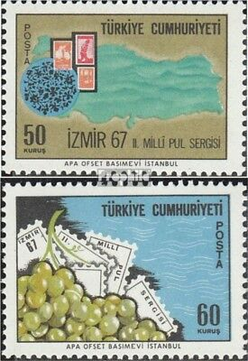 Turkey 2067-2068 (complete issue) unmounted mint / never hinged 1967 Stamp Exhib