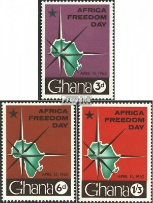 Ghana 118-120 (complete issue) unmounted mint / never hinged 1962 Day the africa