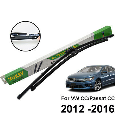 Xukey Front Windshield Wiper Blades Fit For VW Passat CC 2012 2013 2014 2015 16