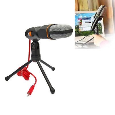 Condenser Sound Podcast Studio Microphone with Tripod For PC Laptop Skype MSN