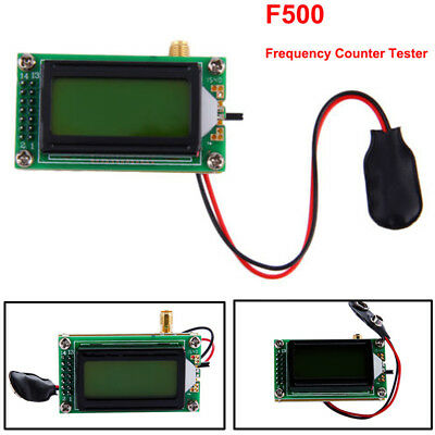 High Accuracy RF 1 to 500 MHz Frequency Meter Reading LED 0802 LCD For Ham Radio