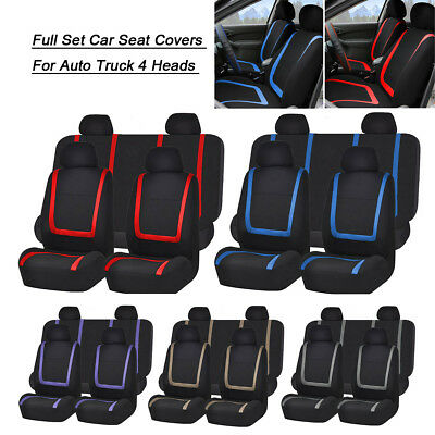 Universal Car Seat Covers Full Set Washable Front Rear Head Covers Truck SUV