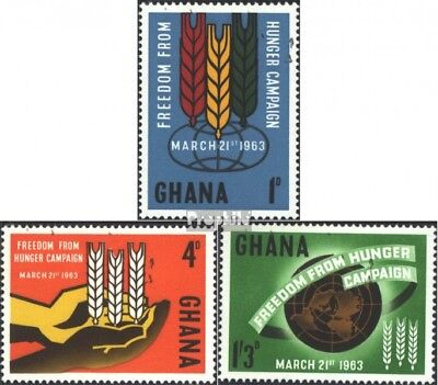 Ghana 138-140 (complete issue) unmounted mint / never hinged 1963 Fight against
